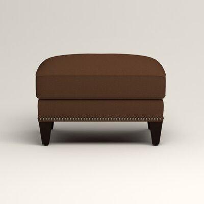 Larson Ottoman Upholstery: Jackson Coffee Microsuede, Nailhead Detail: Trim
