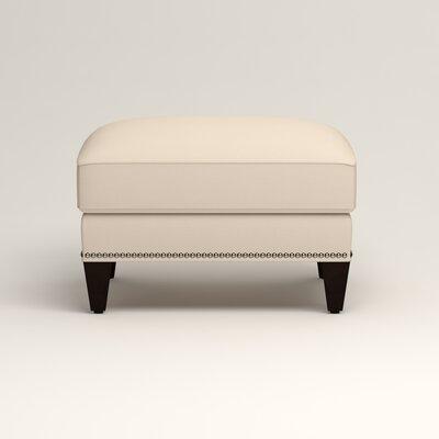 Larson Ottoman Upholstery: Jackson Oyster Microsuede, Nailhead Detail: Trim