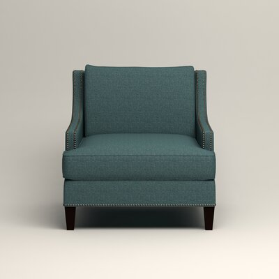 Larson Nailhead Trim Chair Color: Bailey Aegean Blended Linen