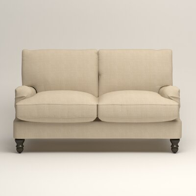 Montgomery Slipcovered Loveseat Upholstery: Hilo Flax