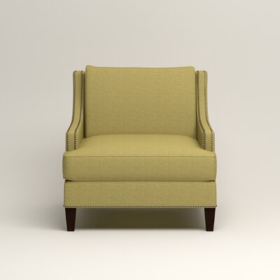 Larson Nailhead Trim Chair Color: Bailey Avocado Blended Linen