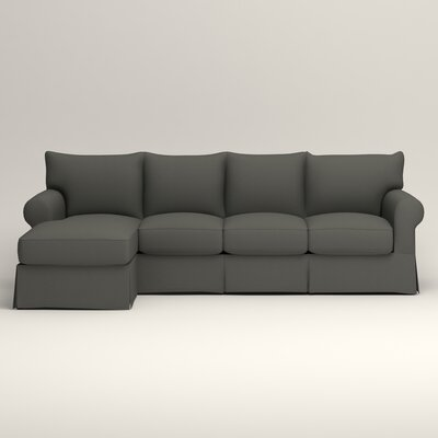 Jameson Sofa with Chaise Upholstery: Griffin Shadow Twill, Orientation: Right