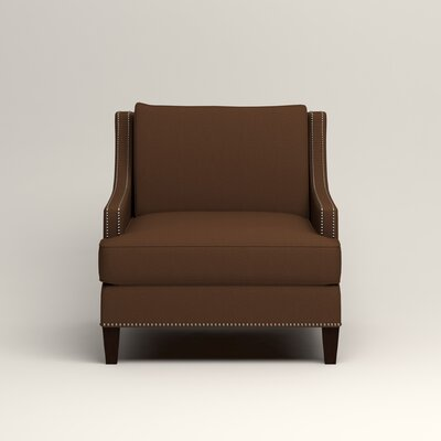 Larson Nailhead Trim Chair Color: Jackson Coffee Microsuede
