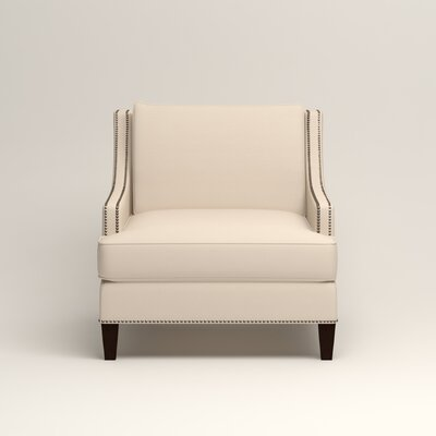 Larson Nailhead Trim Chair Color: Jackson Oyster Microsuede
