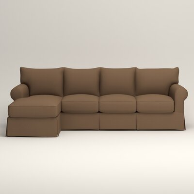 Jameson Sofa with Chaise Upholstery: Microsuede Cappucino, Orientation: Right Facing