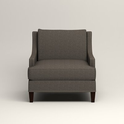 Larson Nailhead Trim Chair Color: Bailey Charcoal Blended Linen