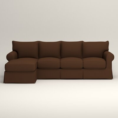 Jameson Sofa with Chaise Upholstery: Jackson Coffee Microsuede, Orientation: Left