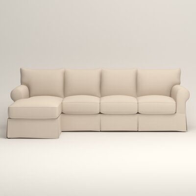 Jameson Sofa with Chaise Upholstery: Jackson Oyster Microsuede, Orientation: Left