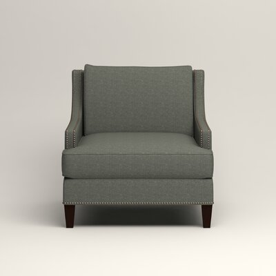 Larson Nailhead Trim Chair Color: Bailey Lagoon Blended Linen