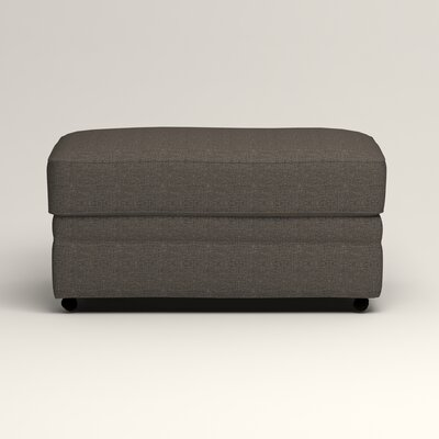 Newton Ottoman Upholstery: Bailey Charcoal Blended Linen