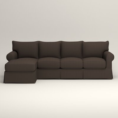Jameson Sleeper Sectional Upholstery: Jackson Storm Microsuede, Orientation: Left Hand Facing