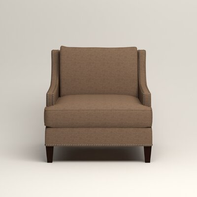 Larson Nailhead Trim Chair Color: Bailey Mushroom Blended Linen