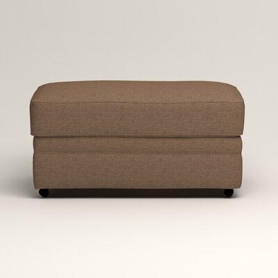 Newton Ottoman Upholstery: Bailey Mushroom Blended Linen