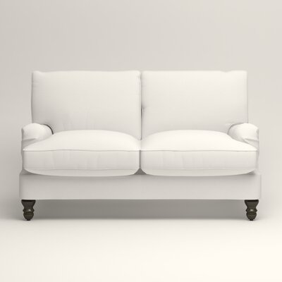Montgomery Slipcovered Loveseat Upholstery: Classic Bleach White