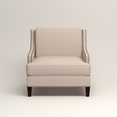 Larson Nailhead Trim Chair Color: Bailey Papyrus Blended Linen
