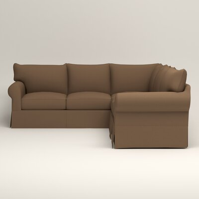 Jameson Symmetrical Sectional Upholstery: Jackson Bark Microsuede, Orientation: Left Facing