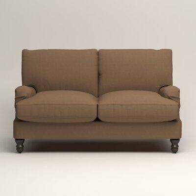 Montgomery Slipcovered Loveseat Upholstery: Microsuede Cappucino