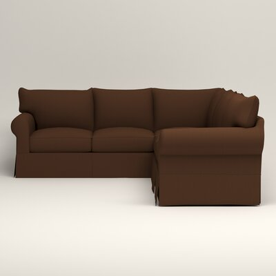 Jameson Symmetrical Sectional Upholstery: Jackson Coffee Microsuede, Orientation: Left Facing