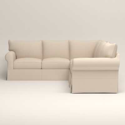 Jameson Symmetrical Sectional Upholstery: Jackson Oyster Microsuede, Orientation: Left Facing