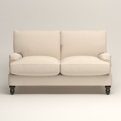 Montgomery Slipcovered Loveseat Upholstery: Microsuede Oyster