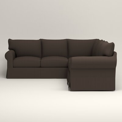 Jameson Symmetrical Sectional Upholstery: Jackson Storm Microsuede, Orientation: Left Facing