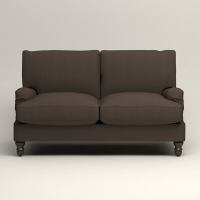 Montgomery Slipcovered Loveseat Upholstery: Microsuede Charcoal