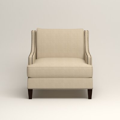 Larson Nailhead Trim Chair Color: Bryant Oatmeal Textured Slub
