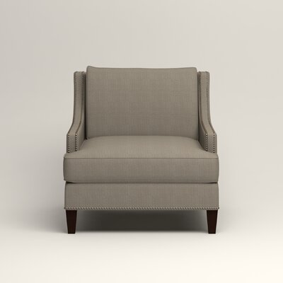 Larson Nailhead Trim Chair Color: Bryant Slate Textured Slub