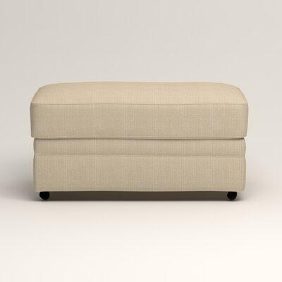 Newton Ottoman Upholstery: Bryant Oatmeal Textured Slub