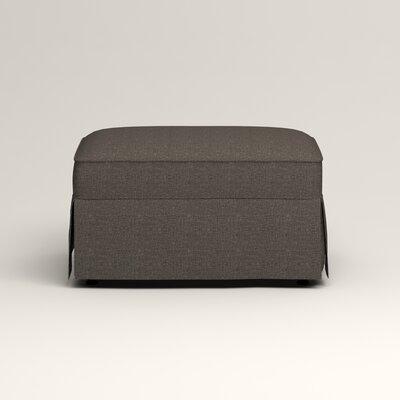 Jameson Ottoman Upholstery: Bailey Charcoal Blended Linen