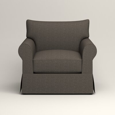 Jameson Chair Fabric: Bailey Charcoal Blended Linen