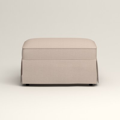 Jameson Ottoman Upholstery: Bailey Papyrus Blended Linen