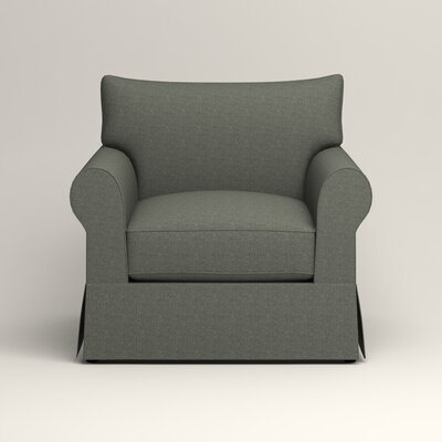 Jameson Chair Fabric: Bailey Lagoon Blended Linen