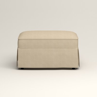 Jameson Ottoman Upholstery: Bryant Oatmeal Textured Slub