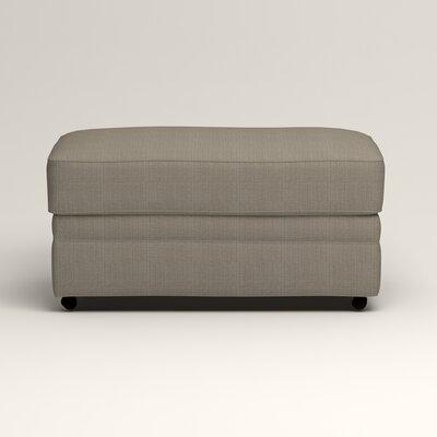 Newton Ottoman Upholstery: Bryant Slate Textured Slub