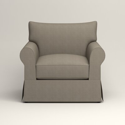 Jameson Chair Fabric: Bryant Slate Textured Slub