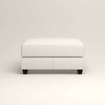 Hawthorn Ottoman Upholstery: Classic Bleach White