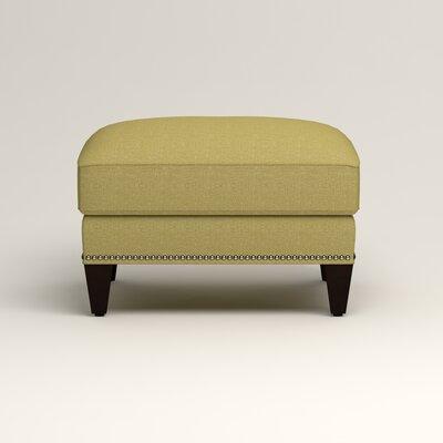 Larson Ottoman Upholstery: Bailey Avocado Blended Linen, Nailhead Detail: Trim