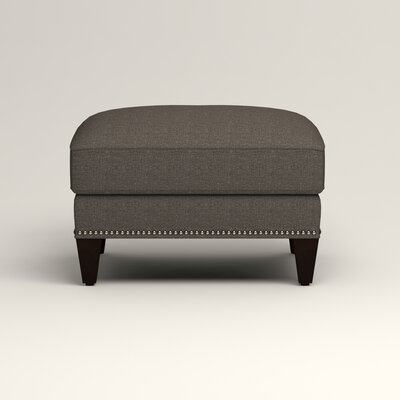 Larson Ottoman Upholstery: Bailey Charcoal Blended Linen, Nailhead Detail: Trim