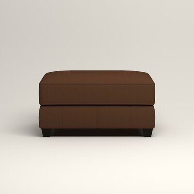 Hawthorn Ottoman Upholstery: Microsuede Chocolate