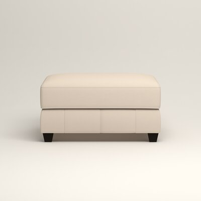 Hawthorn Ottoman Upholstery: Microsuede Oyster