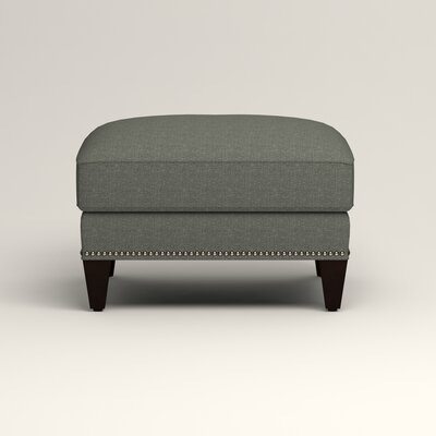 Larson Ottoman Upholstery: Bailey Lagoon Blended Linen, Nailhead Detail: Trim
