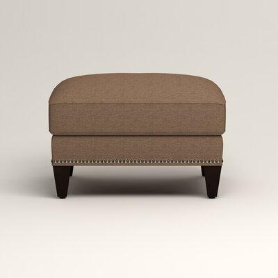 Larson Ottoman Upholstery: Bailey Mushroom Blended Linen, Nailhead Detail: Trim