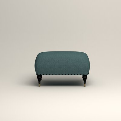 Shephard Ottoman Upholstery: Lizzy Prussian