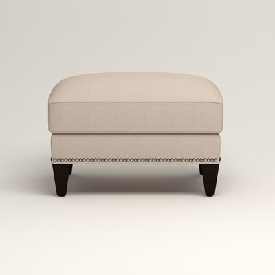 Larson Ottoman Upholstery: Bailey Papyrus Blended Linen, Nailhead Detail: Trim