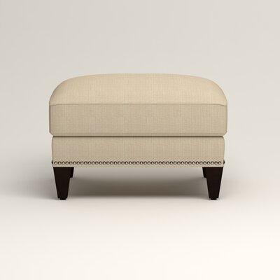 Larson Ottoman Upholstery: Bryant Oatmeal Textured Slub, Nailhead Detail: Trim
