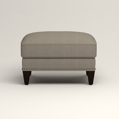 Larson Ottoman Upholstery: Bryant Slate Textured Slub, Nailhead Detail: Trim