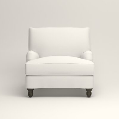 Montgomery Armchair Upholstery: Classic Bleach White