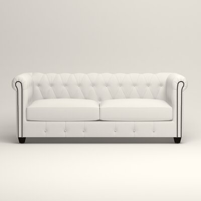 Hawthorn Chesterfield Sofa Upholstery: Classic Bleach White