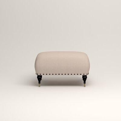 Shephard Ottoman Upholstery: Lizzy Linen